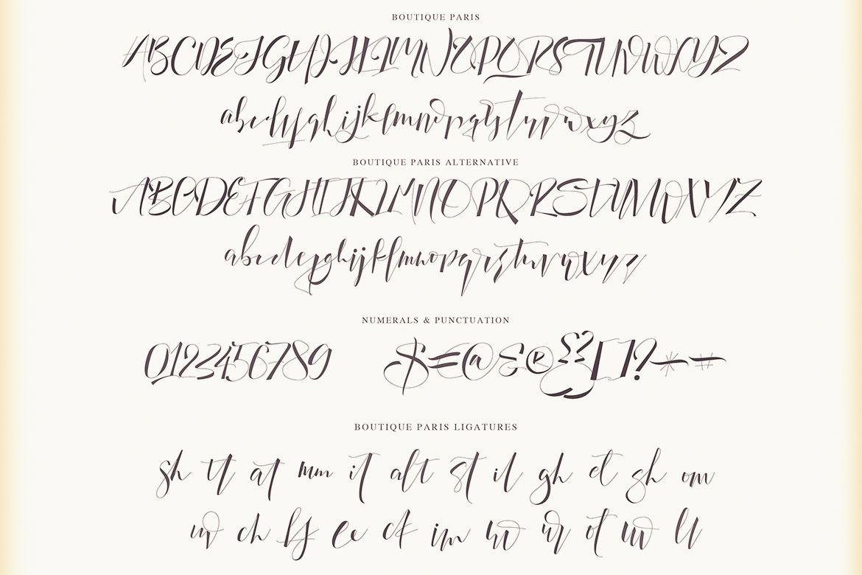 Boutique Paris - Modern Script example image 3