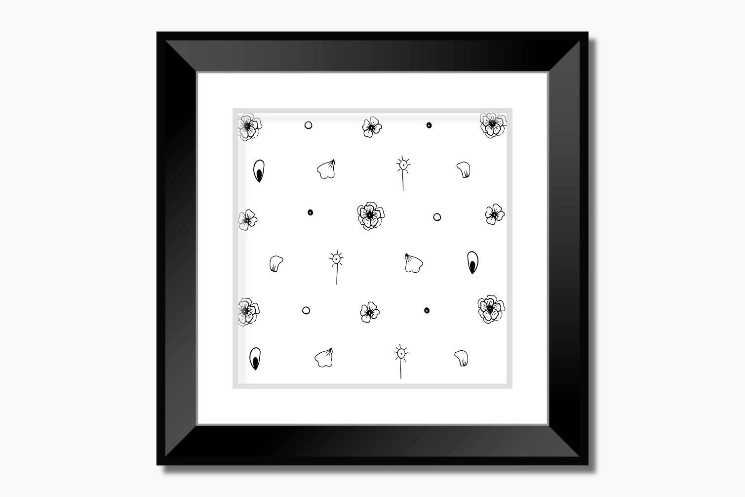 Mini Flowers Ink Art, A1, SVG example image 9