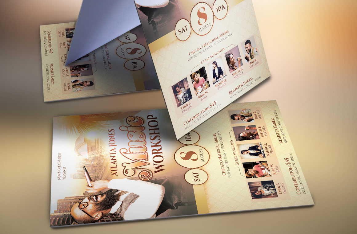 Church Music Workshop Flyer Template example image 3
