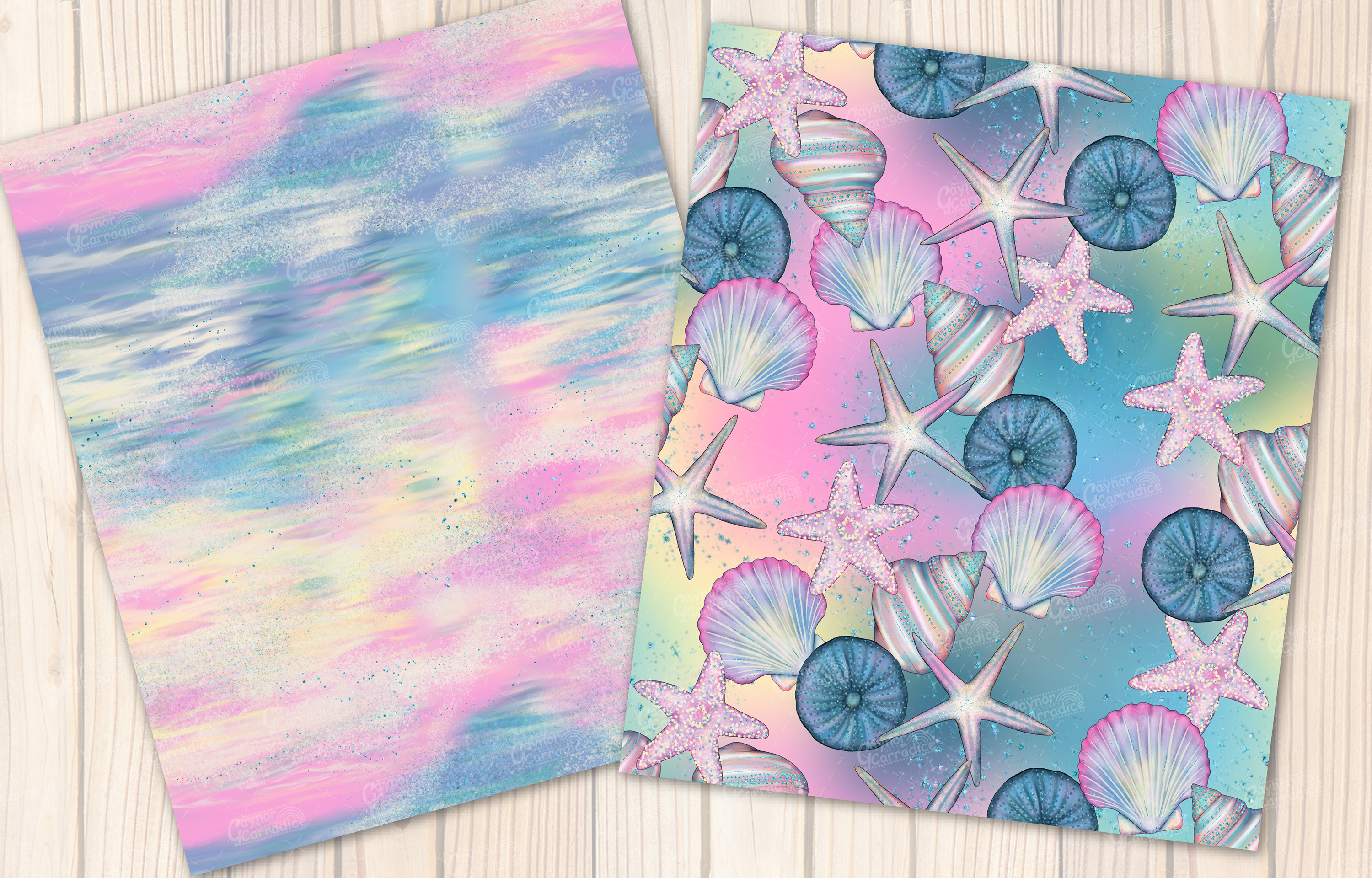 I washed up like this - Summer mermaid Seamless Patterns example image 7