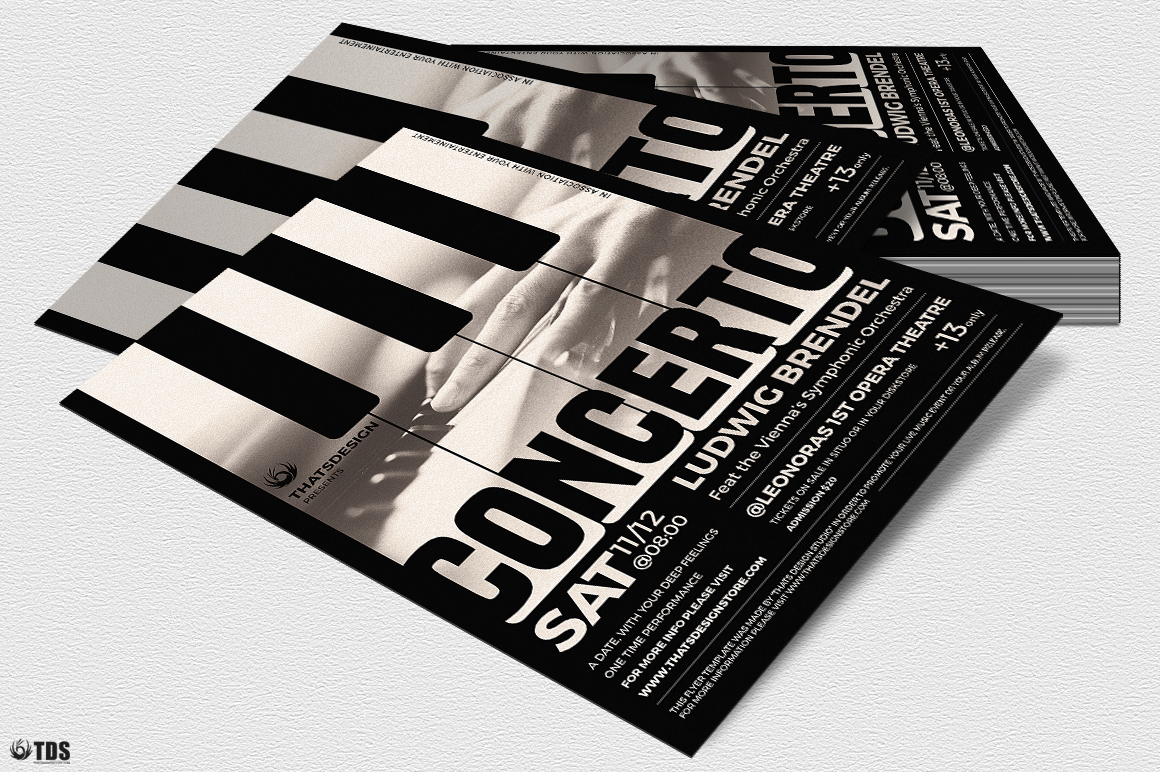 Piano Concerto Flyer Template V1 example image 4