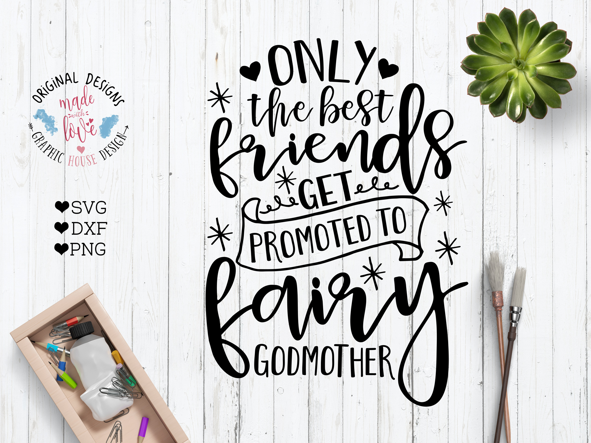 Godmother Quotes For Scrapbooking Quotesgram: Only The Best Friends Get Promoted Fairy GodMother Cut