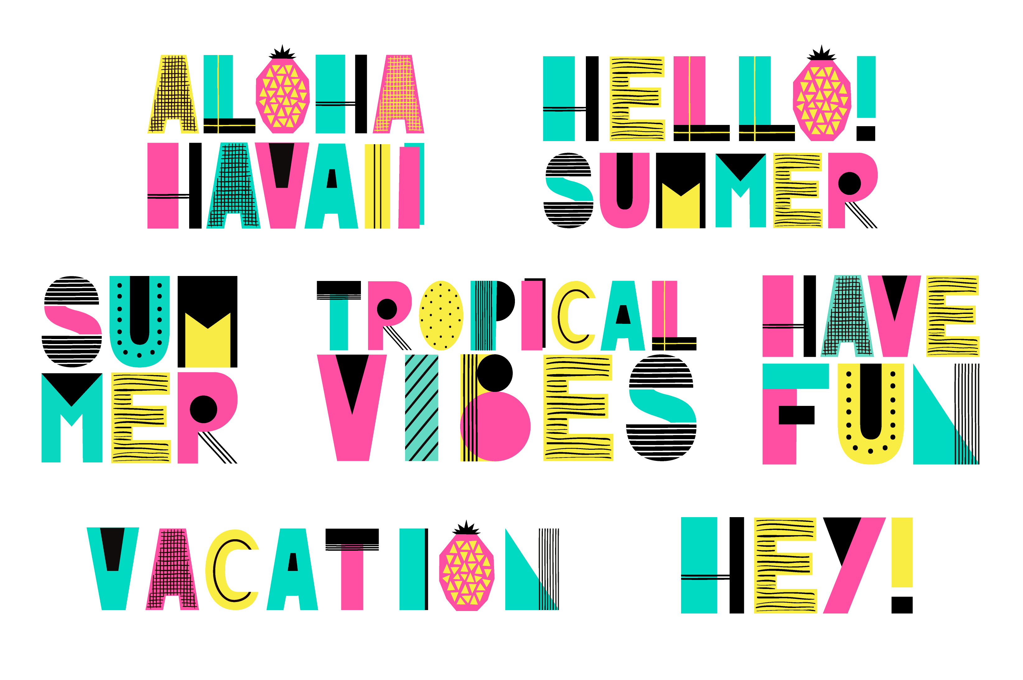 Cute Summer Alphabet example image 3