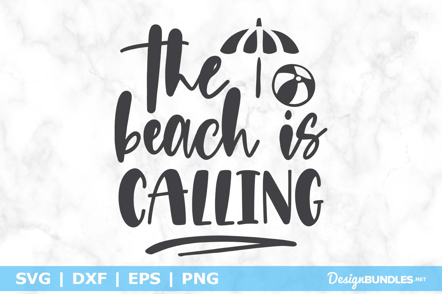 The Beach is Calling SVG File example image 1