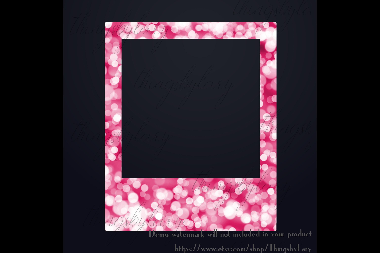 254 Bokeh Polaroid Bridal Shower Photo Booth Photo Frames example image 3