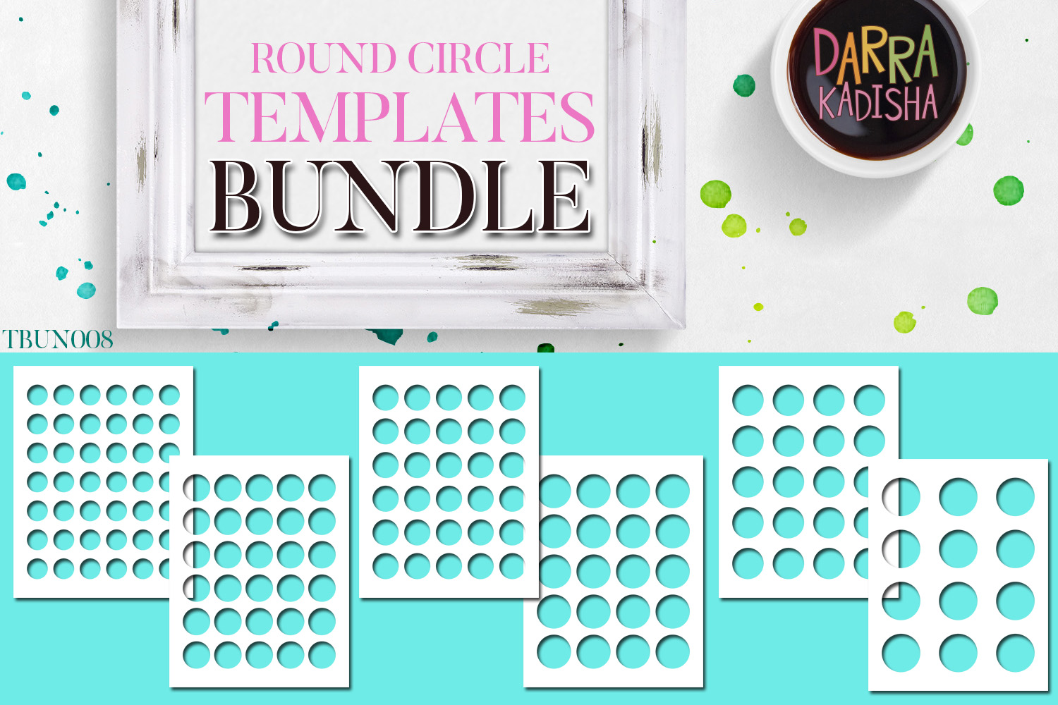 Round Circles Templates Bundle Vol. 8 example image 1