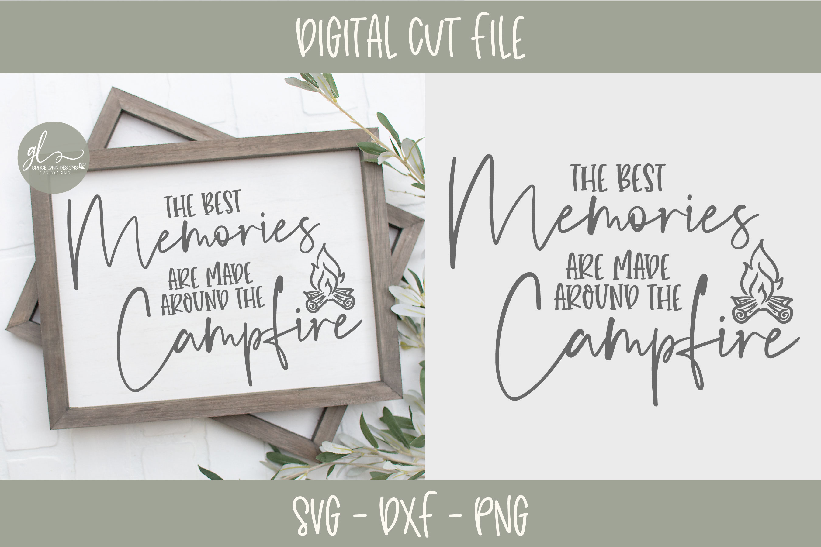 Camping Bundle - 10 Camping SVG Cut Files example image 10