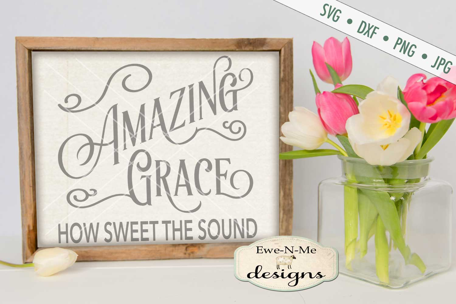 Amazing Grace SVG DXF Cut File example image 1