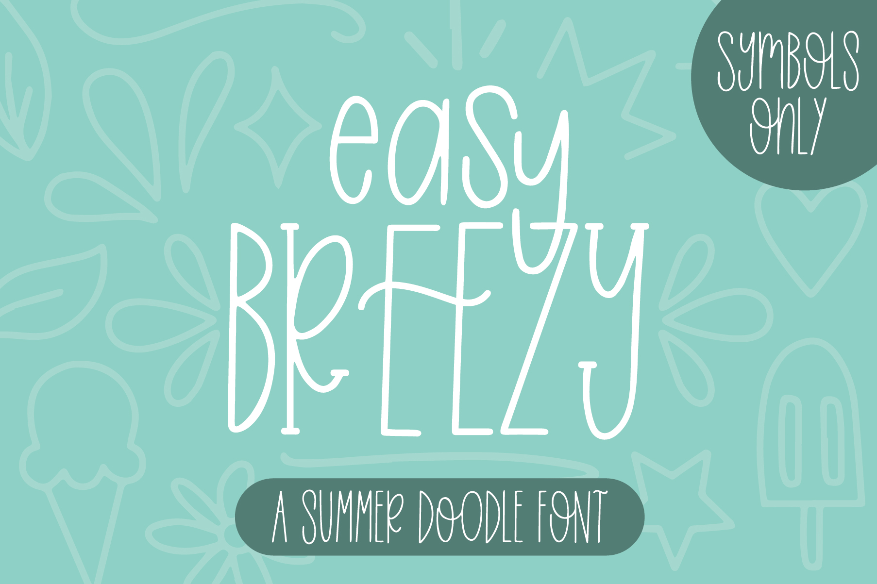 Easy Breezy, Summer Doodle Font example image 1
