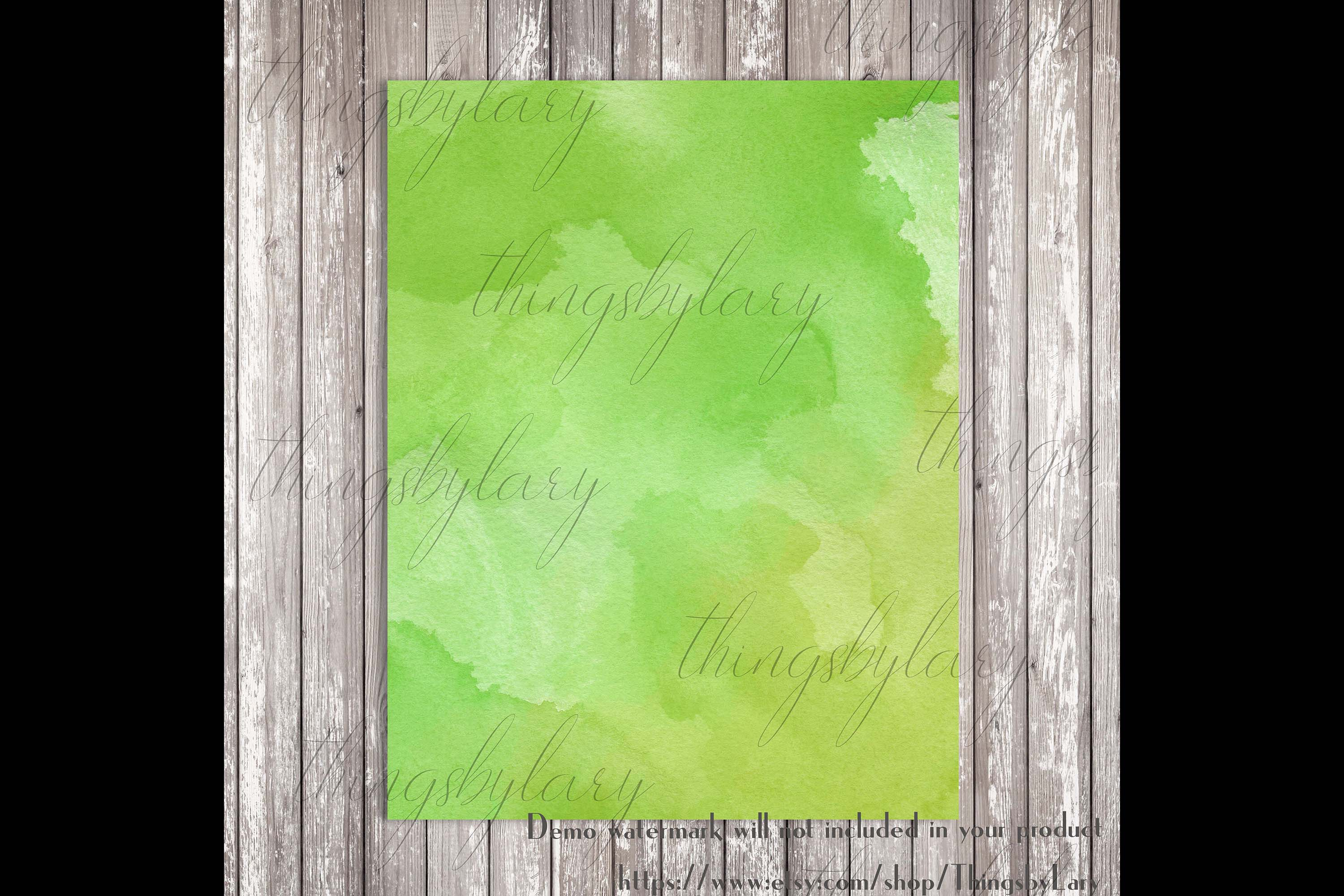18 Sweet Ombre Watercolor Digital Images Card Invitation example image 3