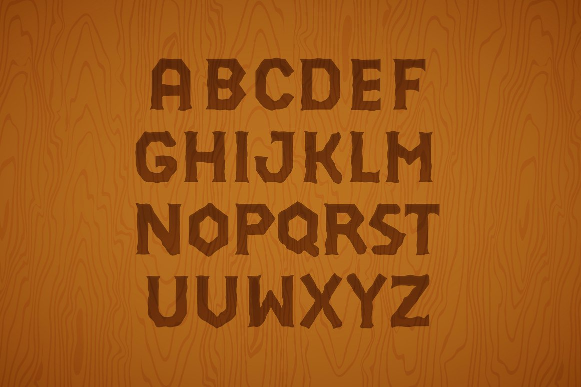 3D Font Set. Gold, wood, silver example image 2