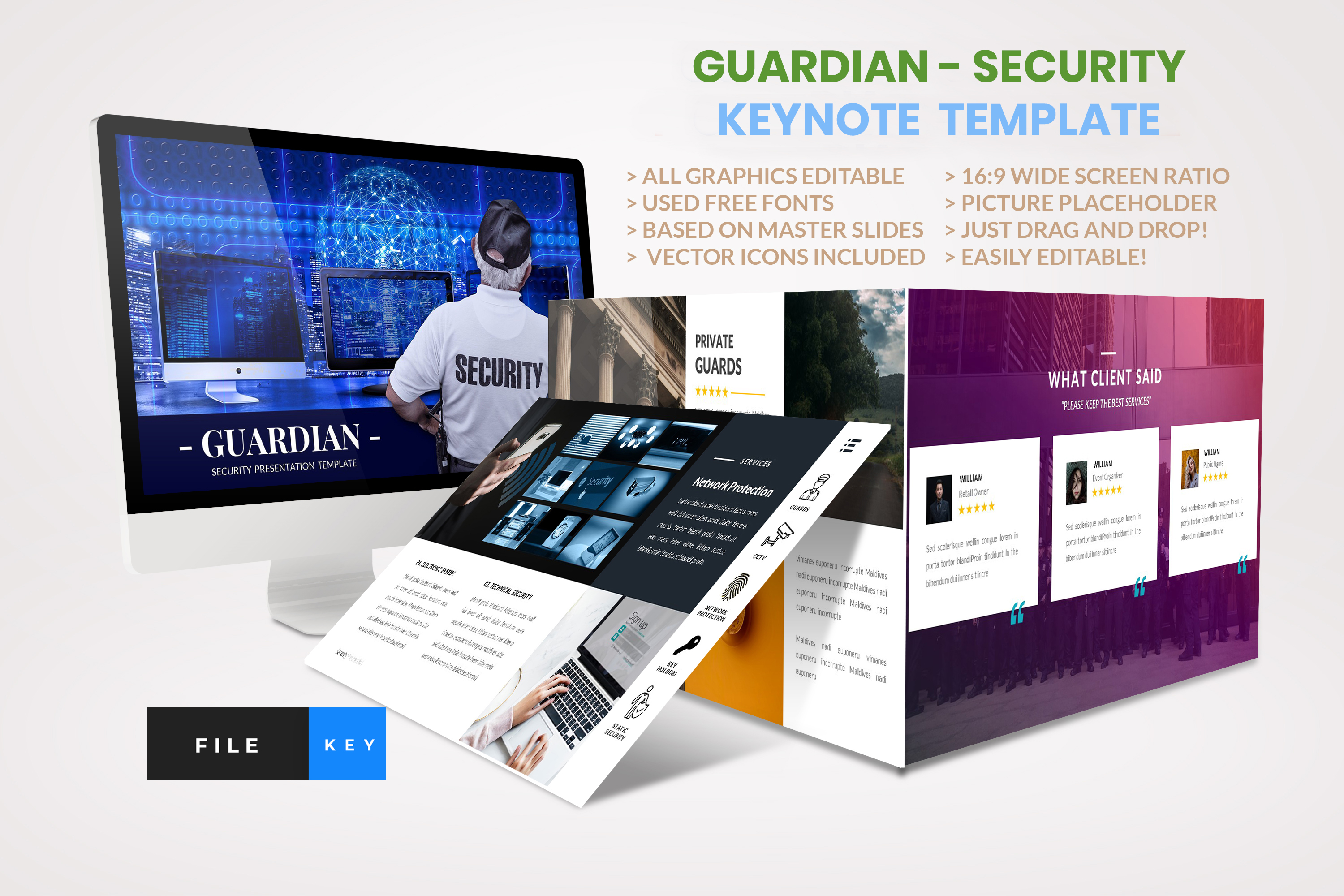 Guardian - Security keynote template example image 1