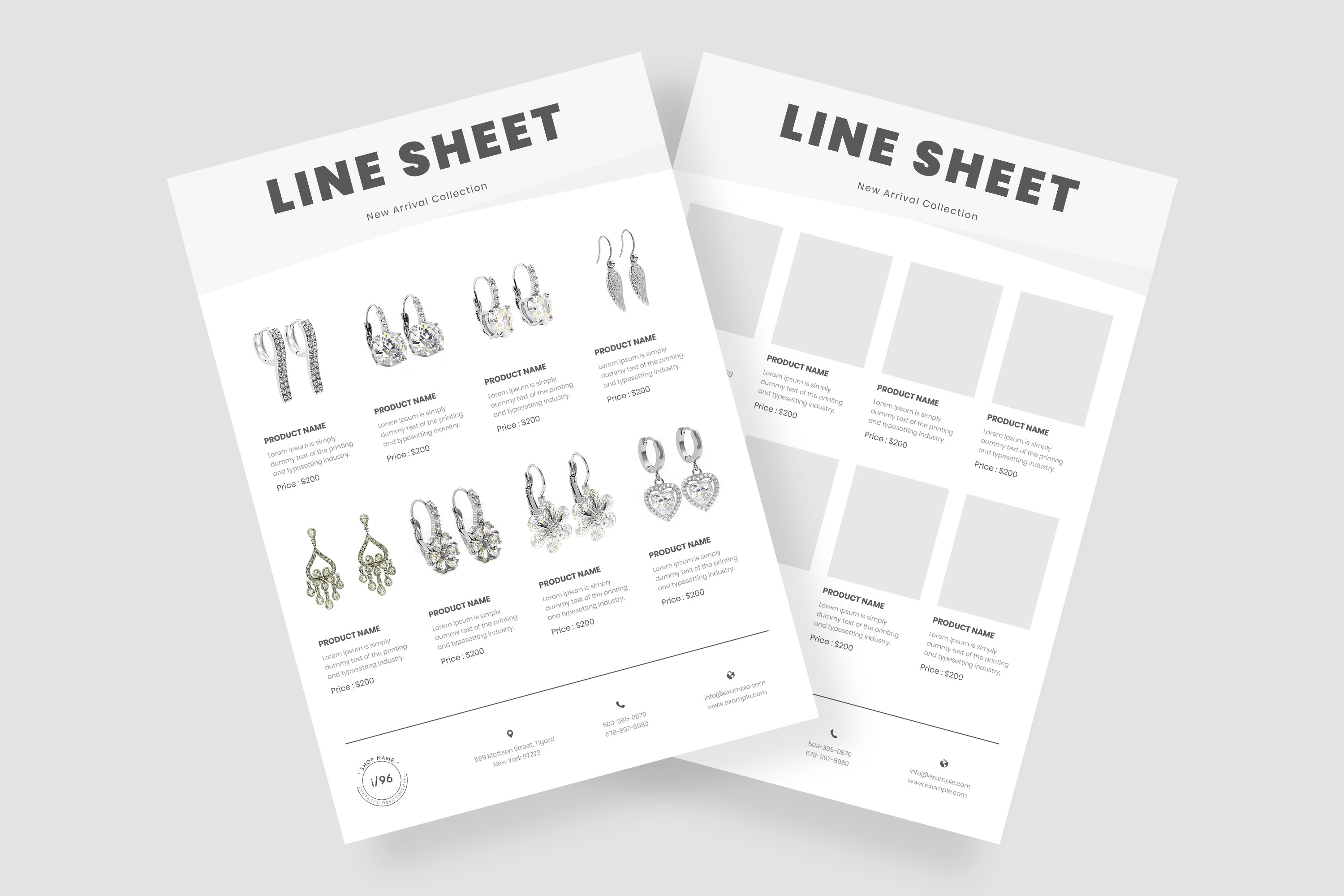 Product Sale Line Sheet Flyer Template example image 1