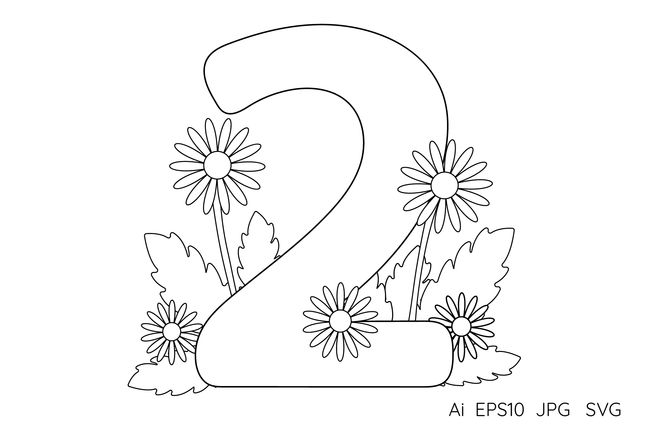 Numbers from 0 to 9. Coloring pages. example image 4