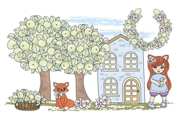 FOX FAIRY TALE Cartoon Color Vector Illustration Set example image 3