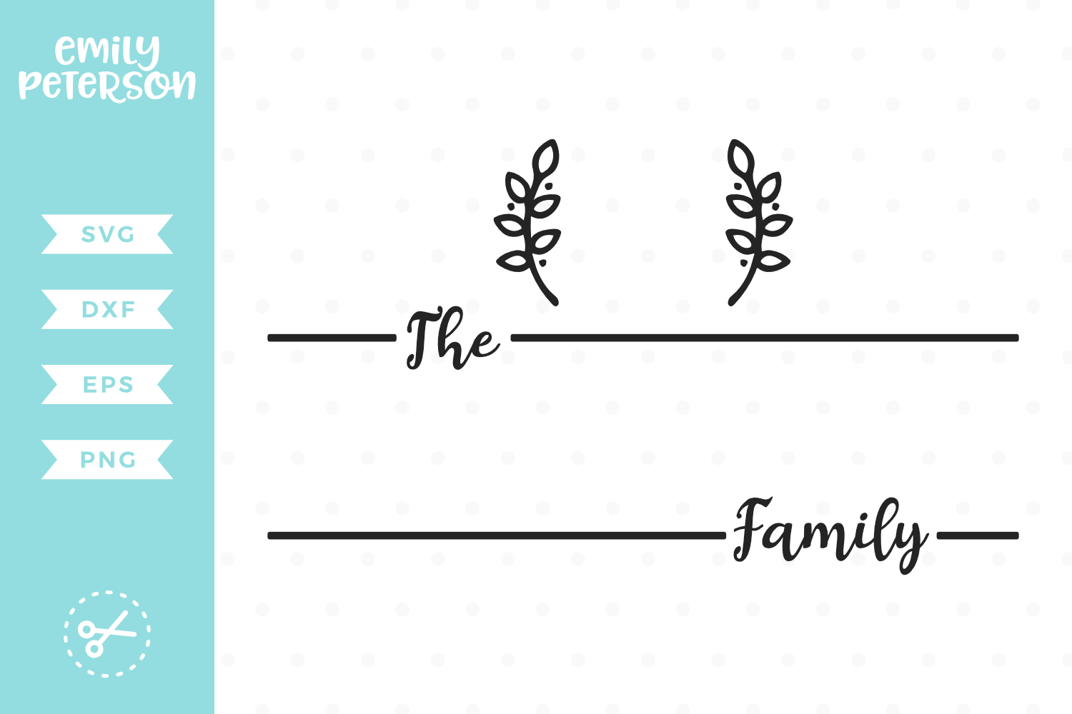 Family Monogram SVG DXF EPS PNG example image 1