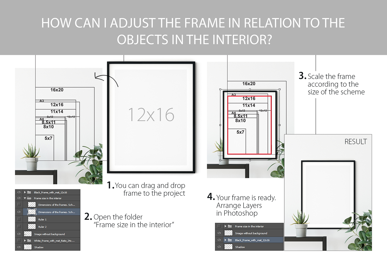 Scandinavian Interior Frames & Walls Mockup Bundle example image 13