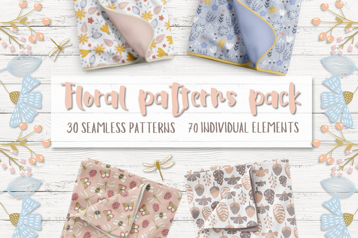 Floral patterns pack example image 1