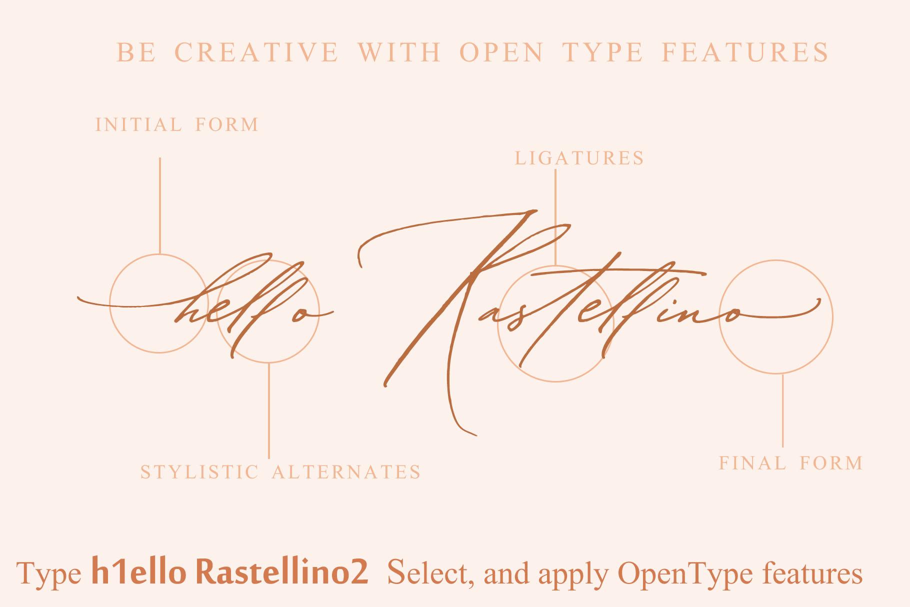 Buongiorno Rastellino script font example image 16