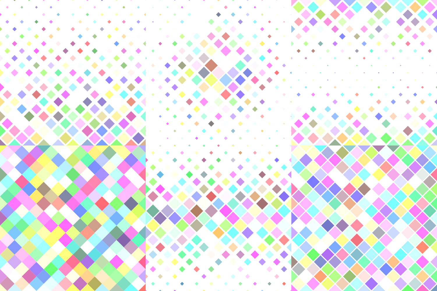 24 Multicolored Square Patterns (AI, EPS, JPG 5000x5000) example image 6