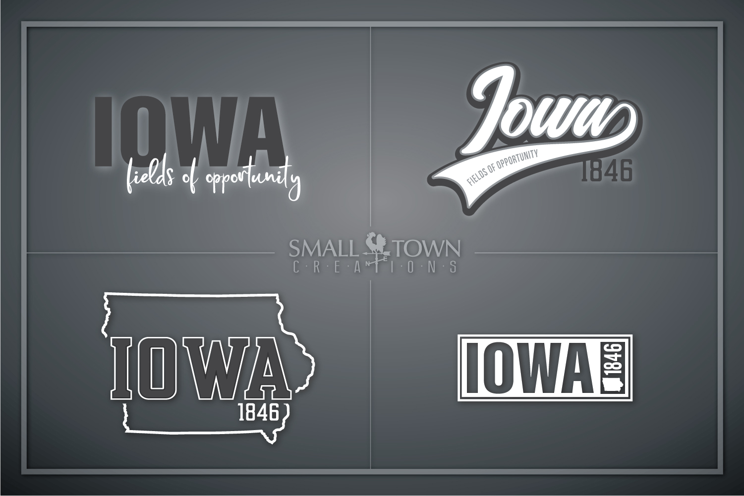 Iowa, State, Fields of Opportunity, PRINT, CUT & DESIGN example image 1