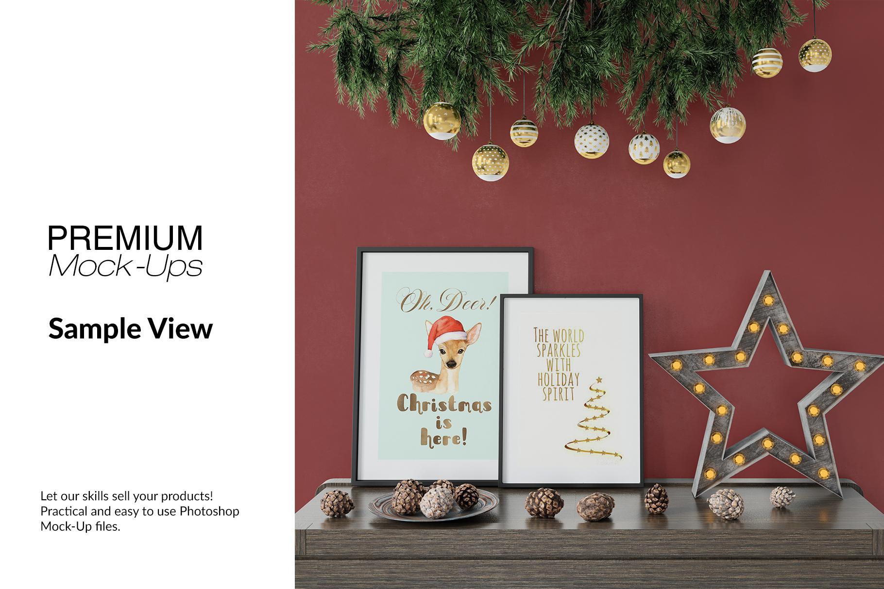 Christmas Frames & Wall Set example image 11