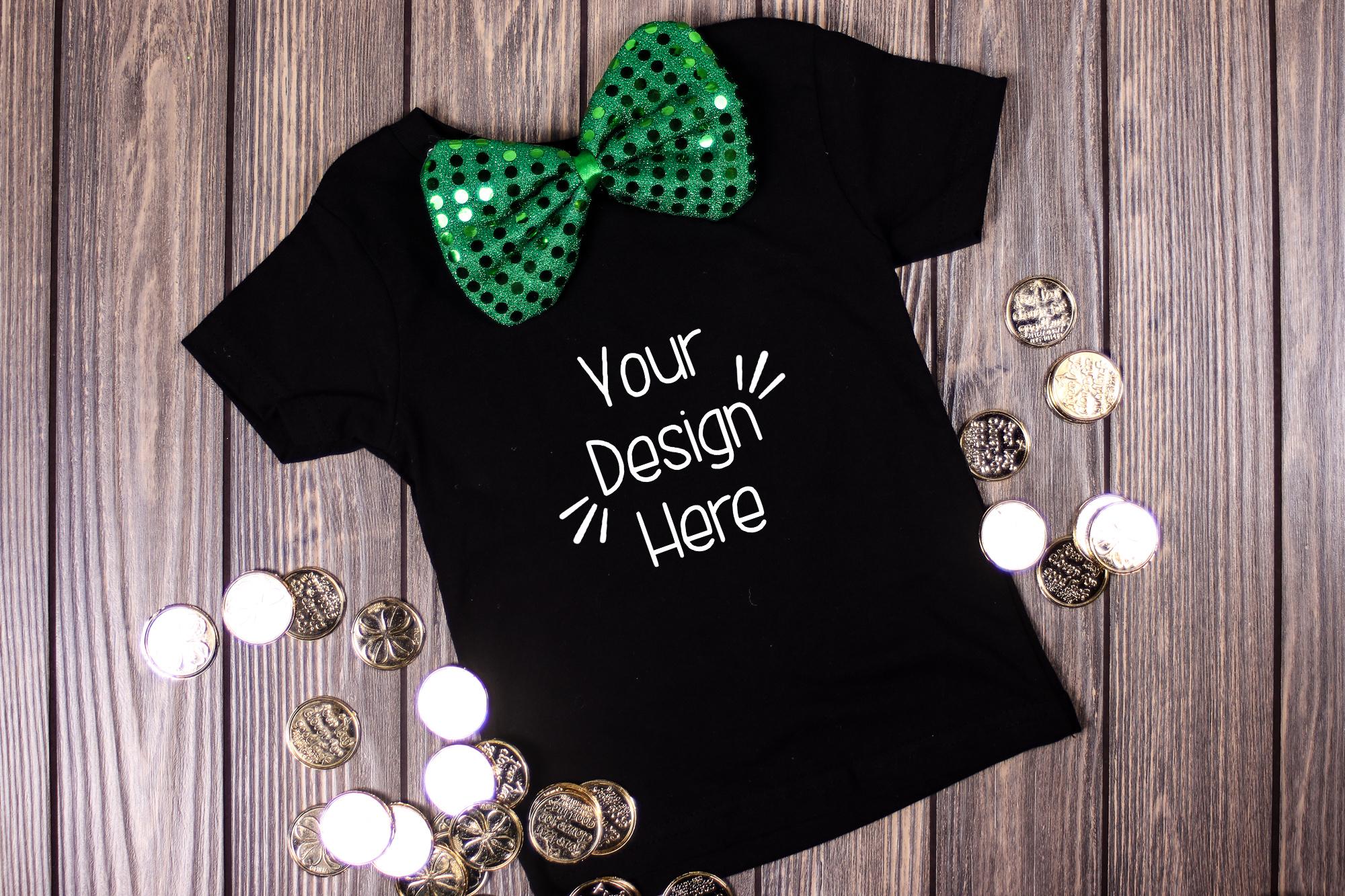 March Toddler Shirt Mockup Black| St Patricks Day Shirt example image 1