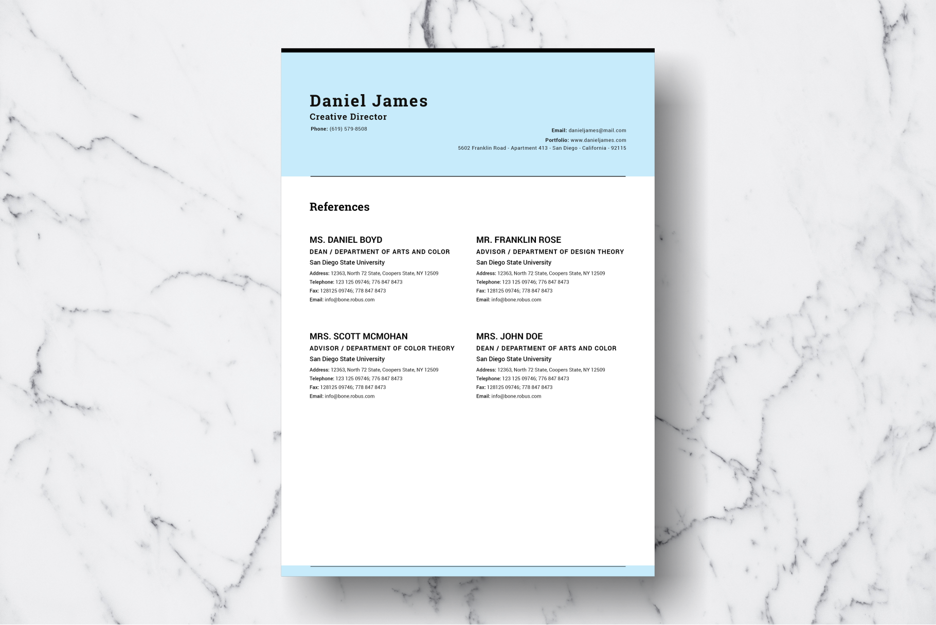 Resume Template Vol. 04 example image 4