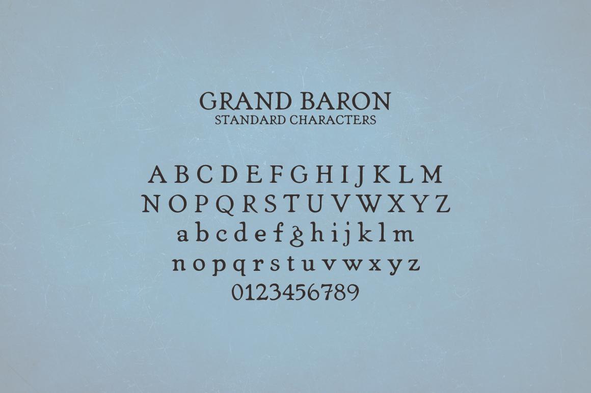 Grand Baron - A Vintage Typeface & Bonus example image 3