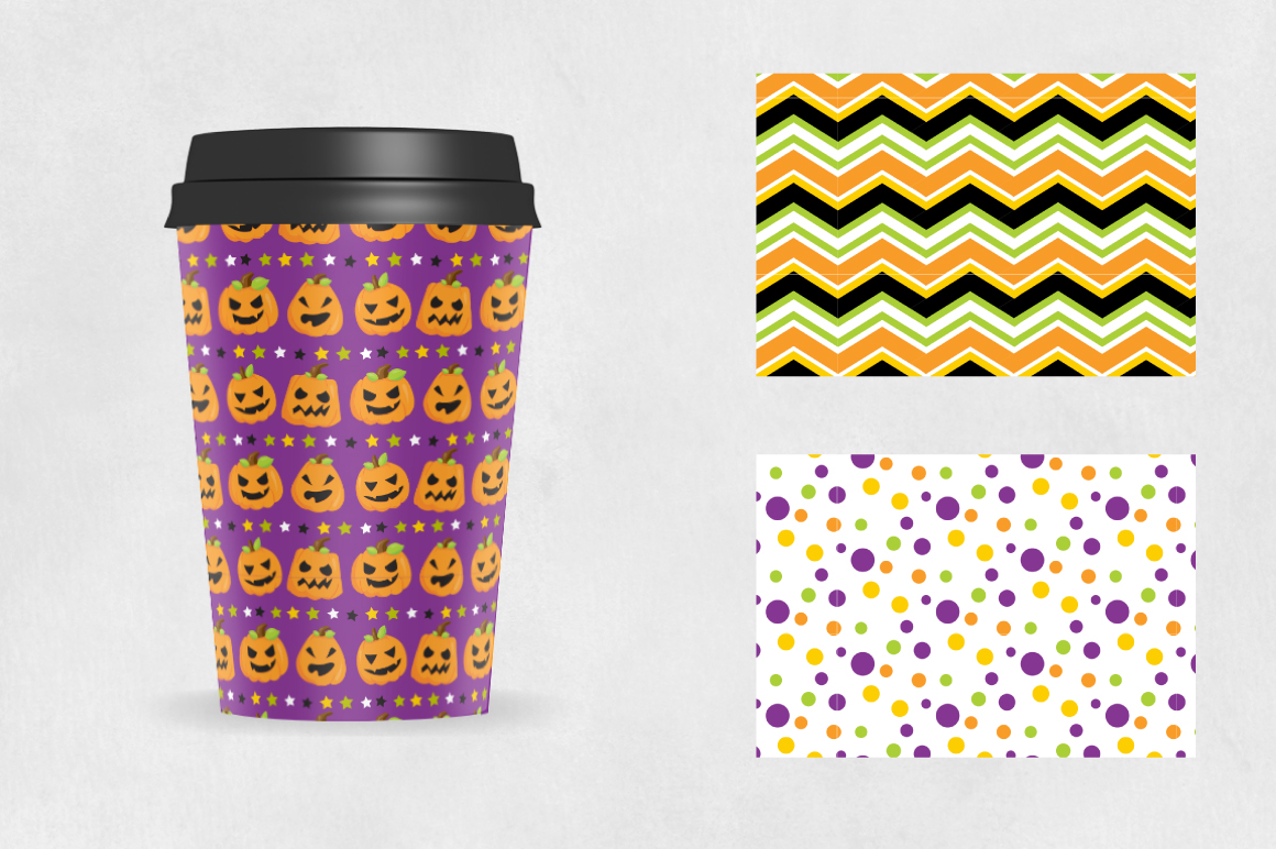 HALLOWEEN-PAPERS, digital papers example image 3