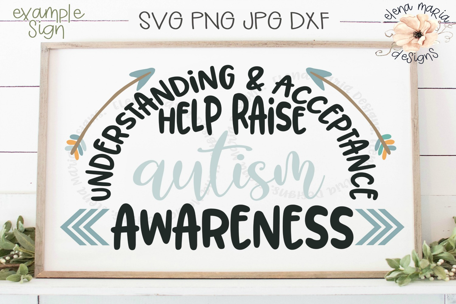 Autism Awareness Svg | Autism Sign | Be Kind | Arrows example image 1