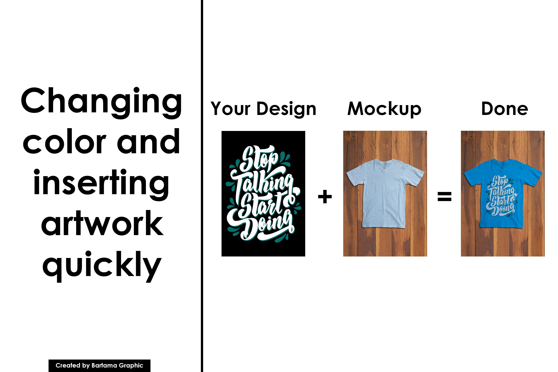 V Neck T-shirt Mockup example image 4
