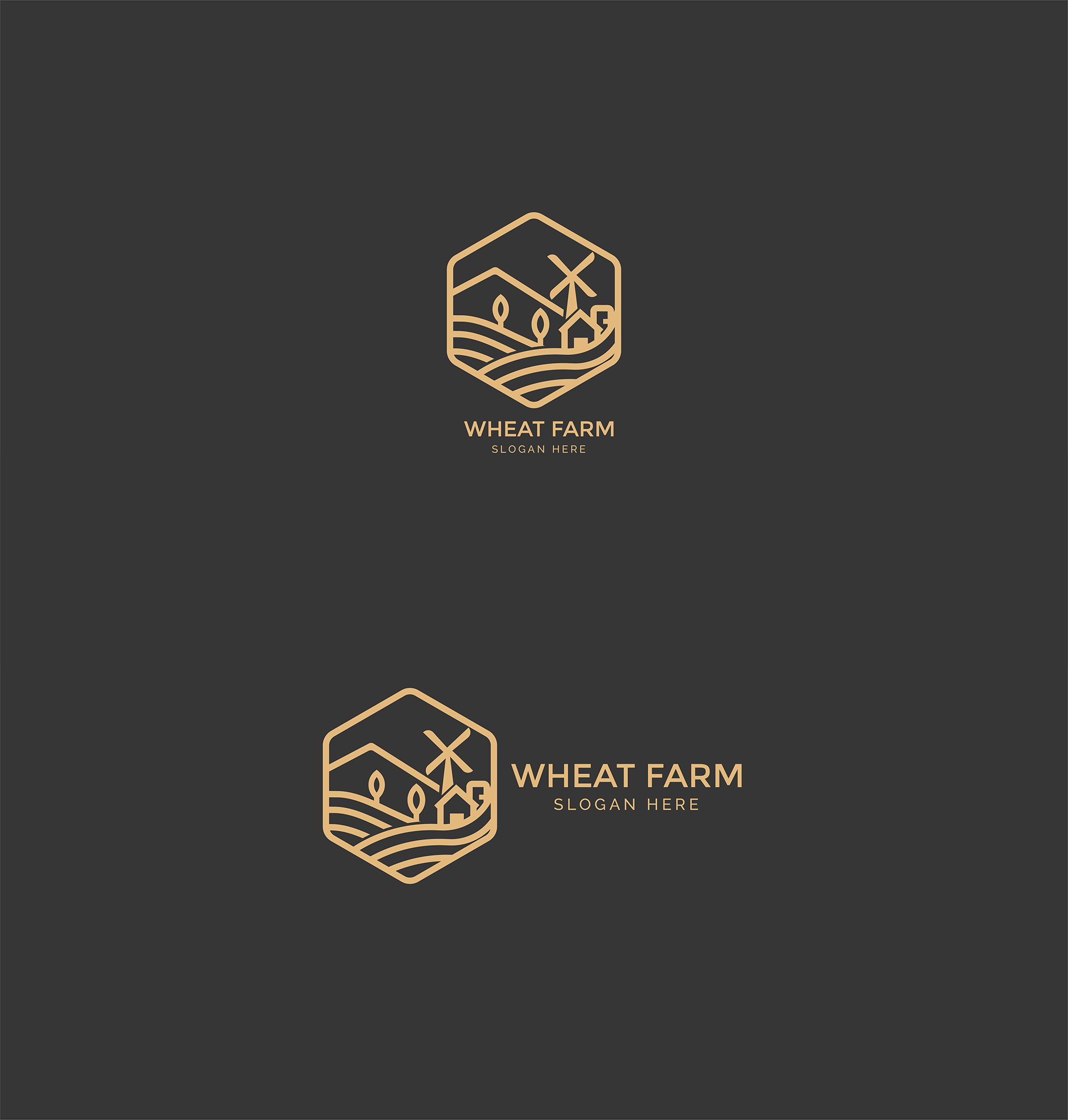 Agriculture - Wheat Farm Logo example image 3