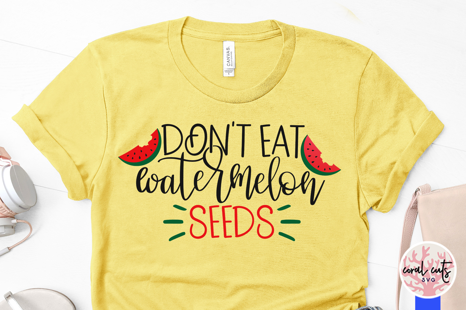Don't eat watermelon seeds - Mother SVG EPS DXF PNG Cut File example image 3