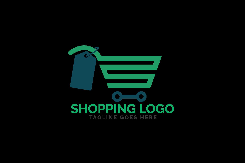 Shopping cart logo design. example image 2