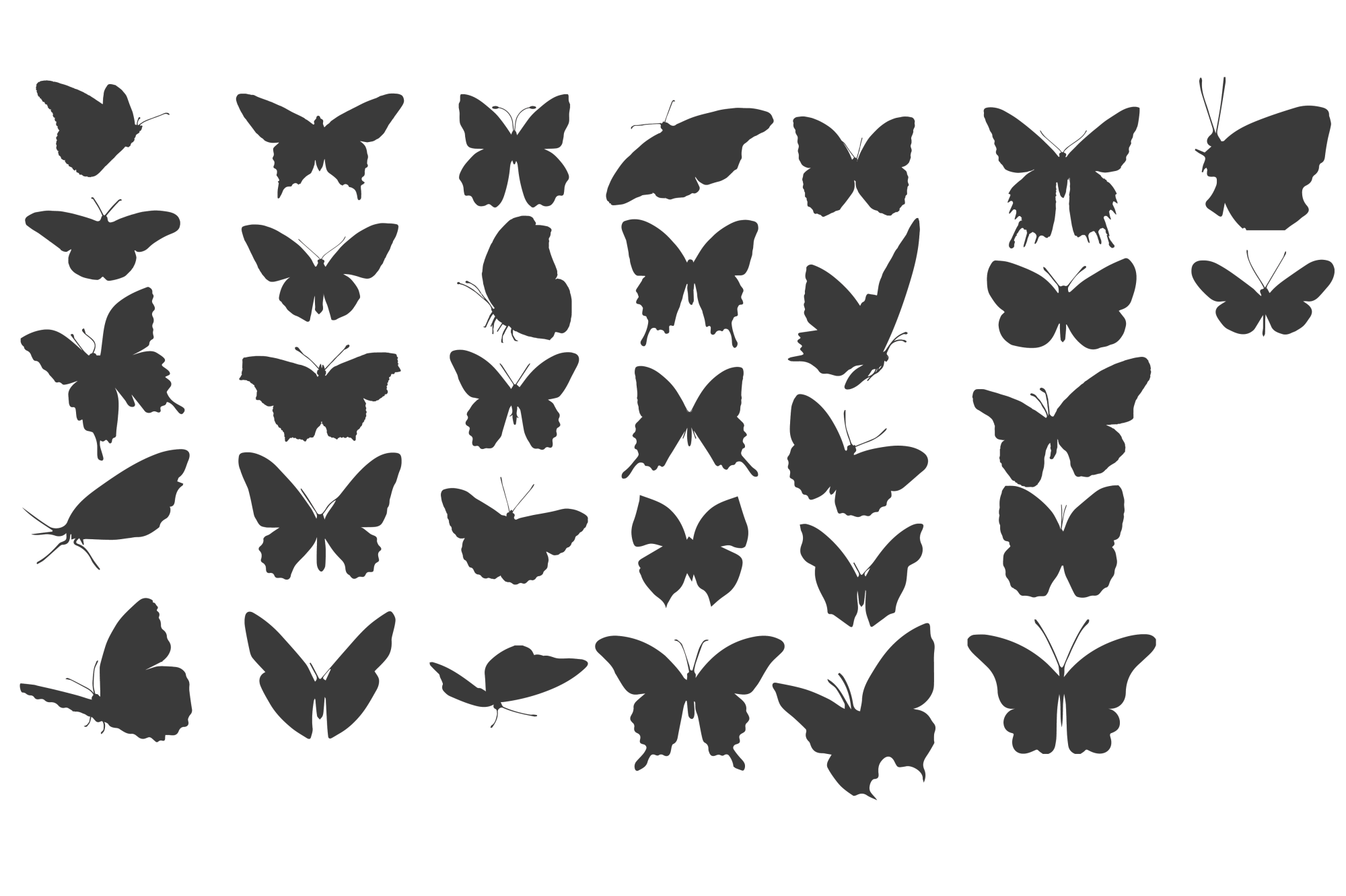 Butterfly Silhouettes for Crafters example image 2
