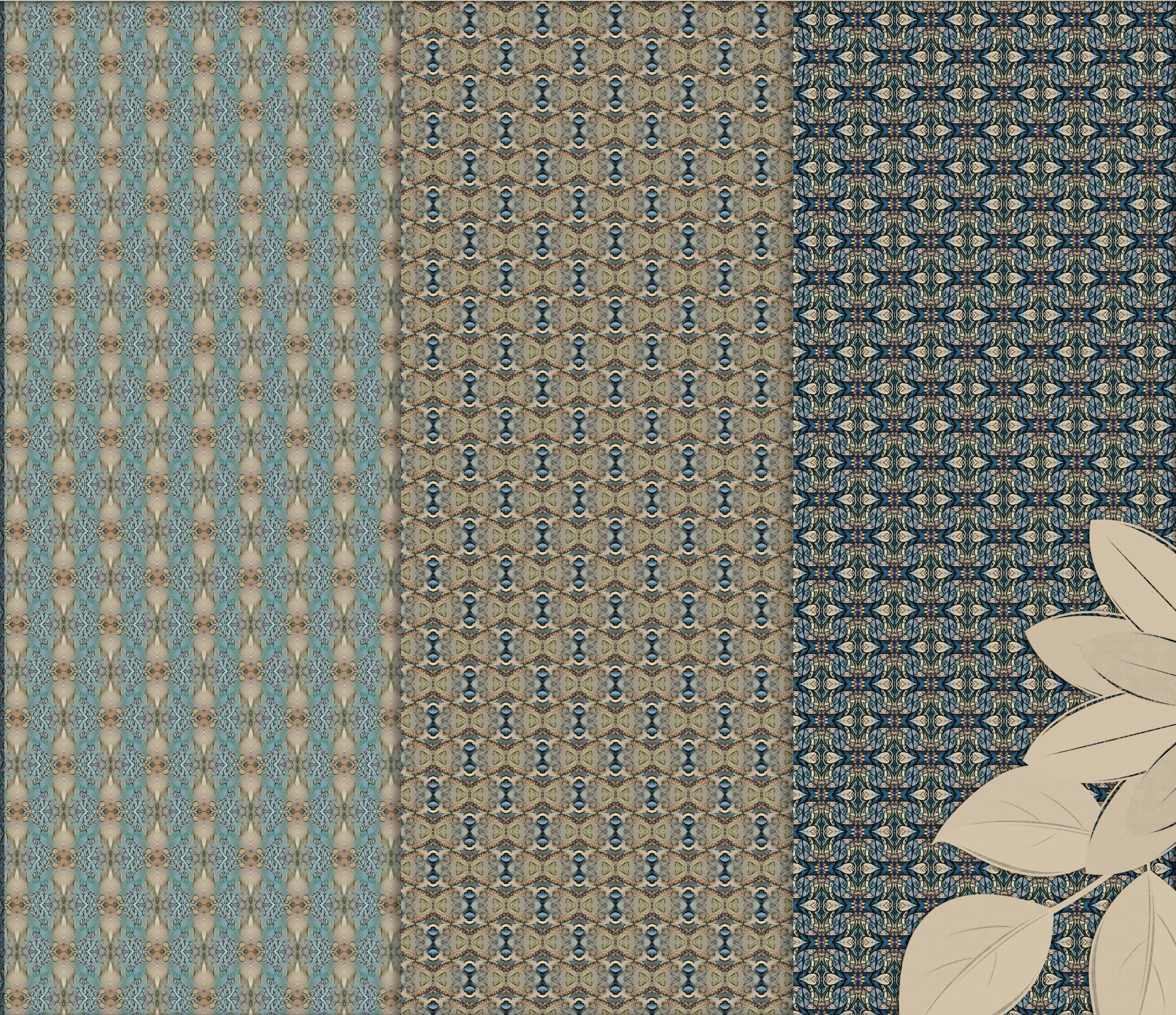 Old vintage blue-beige masculine Scrapbook Paper example image 4