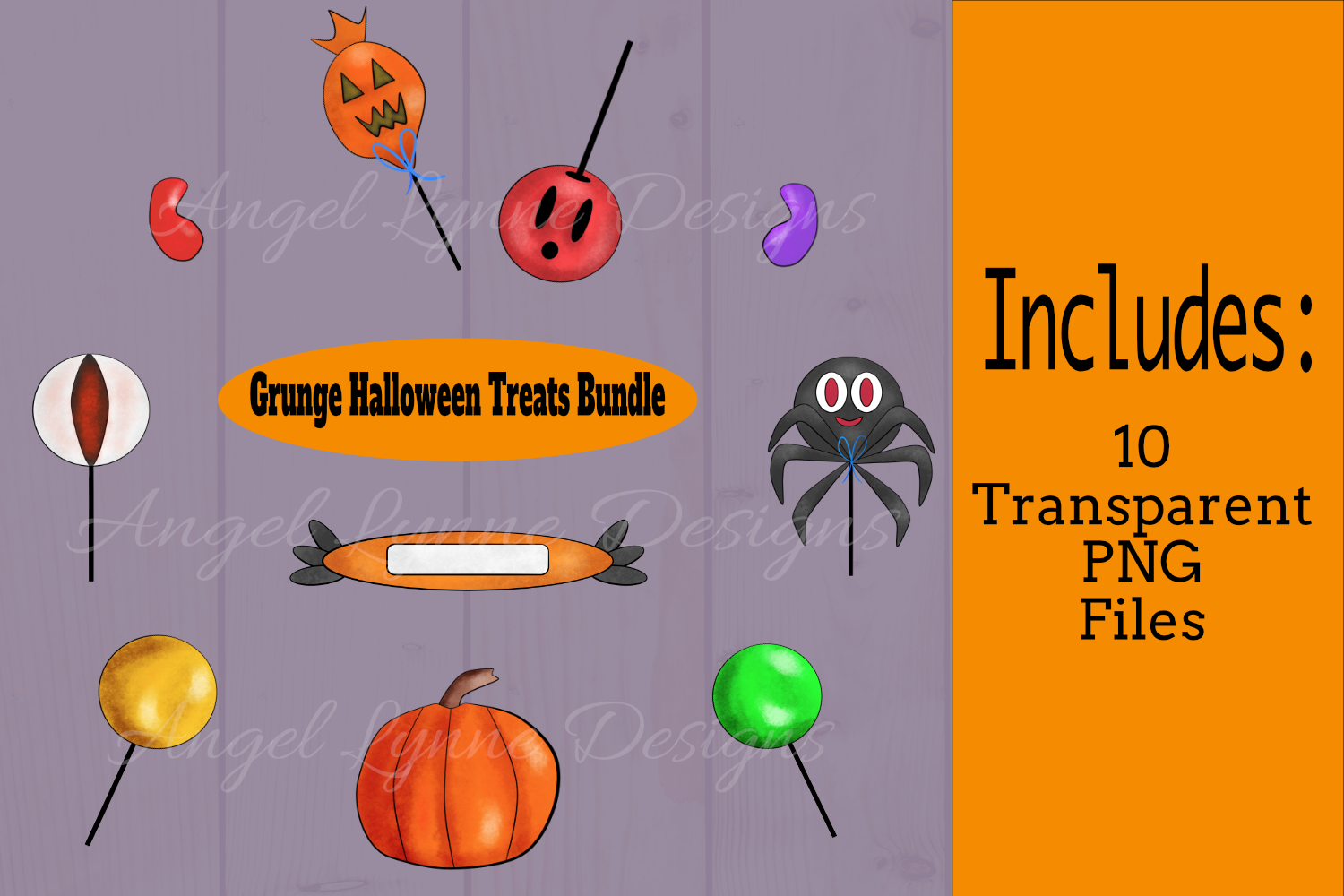Grunge Halloween Treats Bundle example image 1