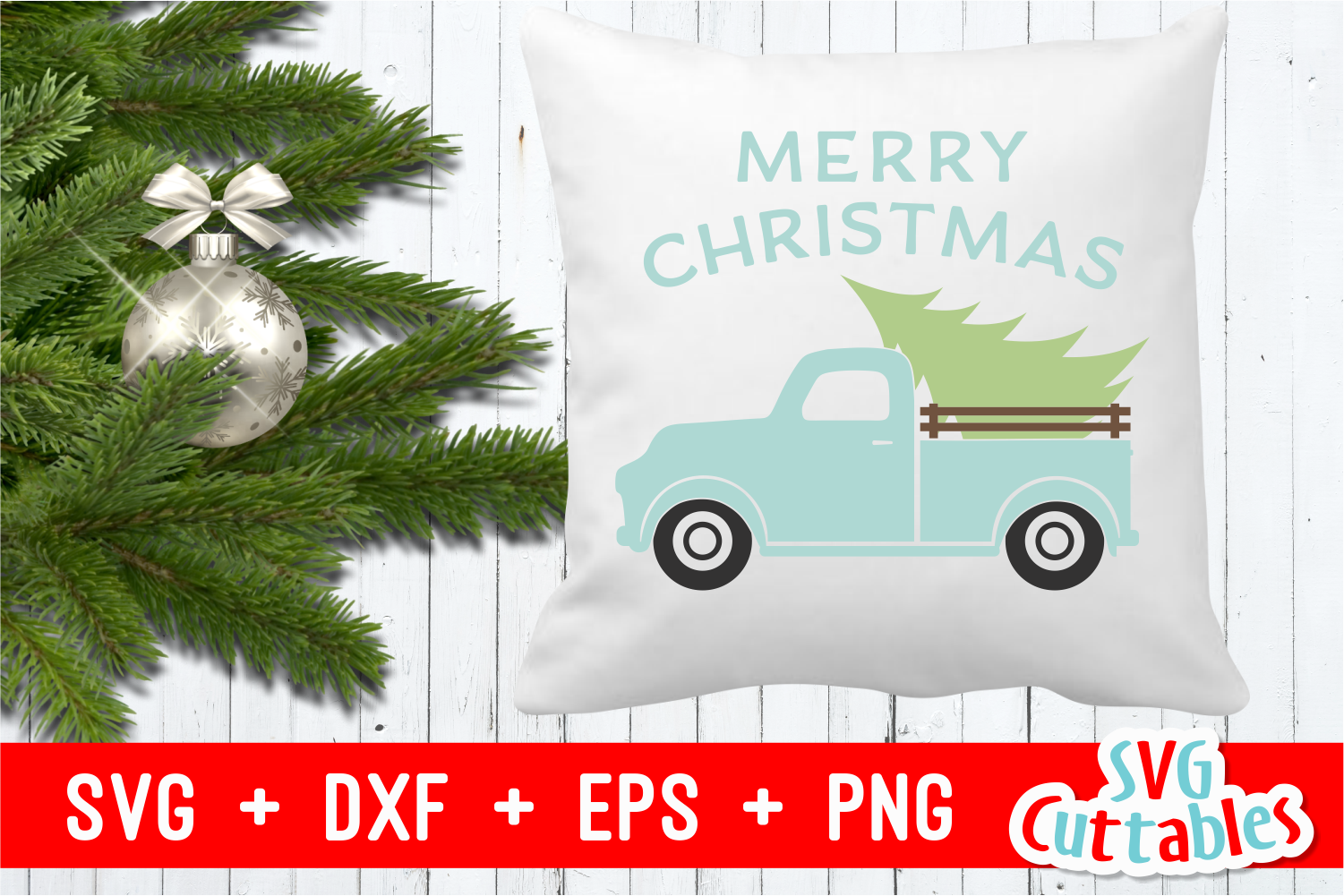 Merry Christmas Truck | Christmas Cut File example image 5