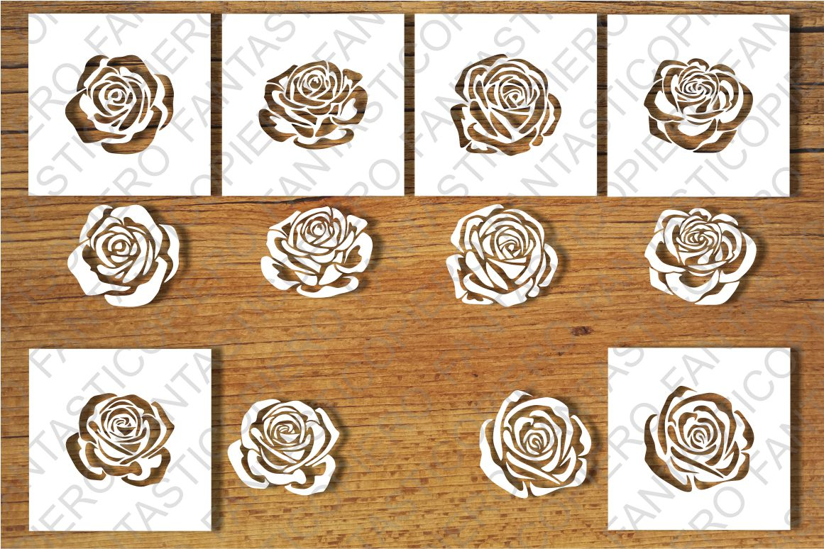 Roses and Stencil SVG files for Silhouette Cameo and Cricut. example image 2