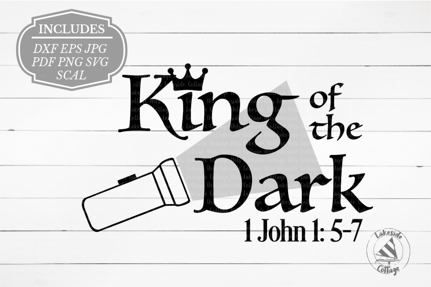King of the Dark Religious Christian Bible SVG Design example image 1