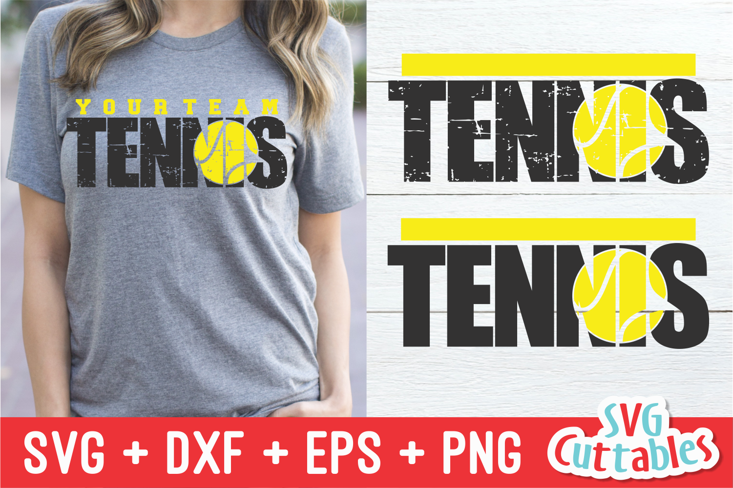 Tennis Template 003 | SVG Cut File example image 1