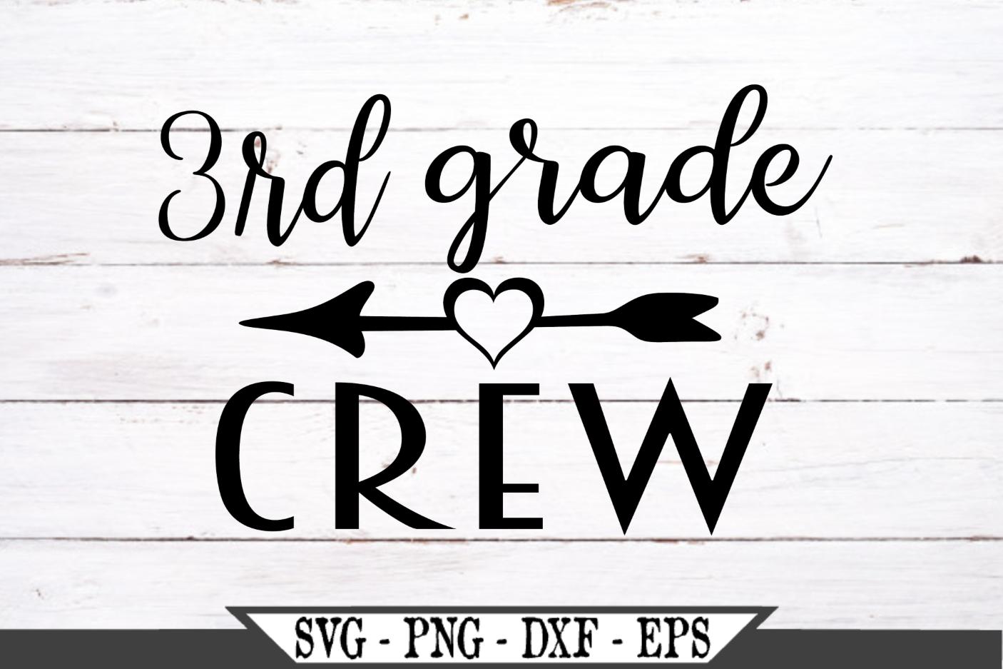 3rd Grade Crew for Third Grader SVG example image 2