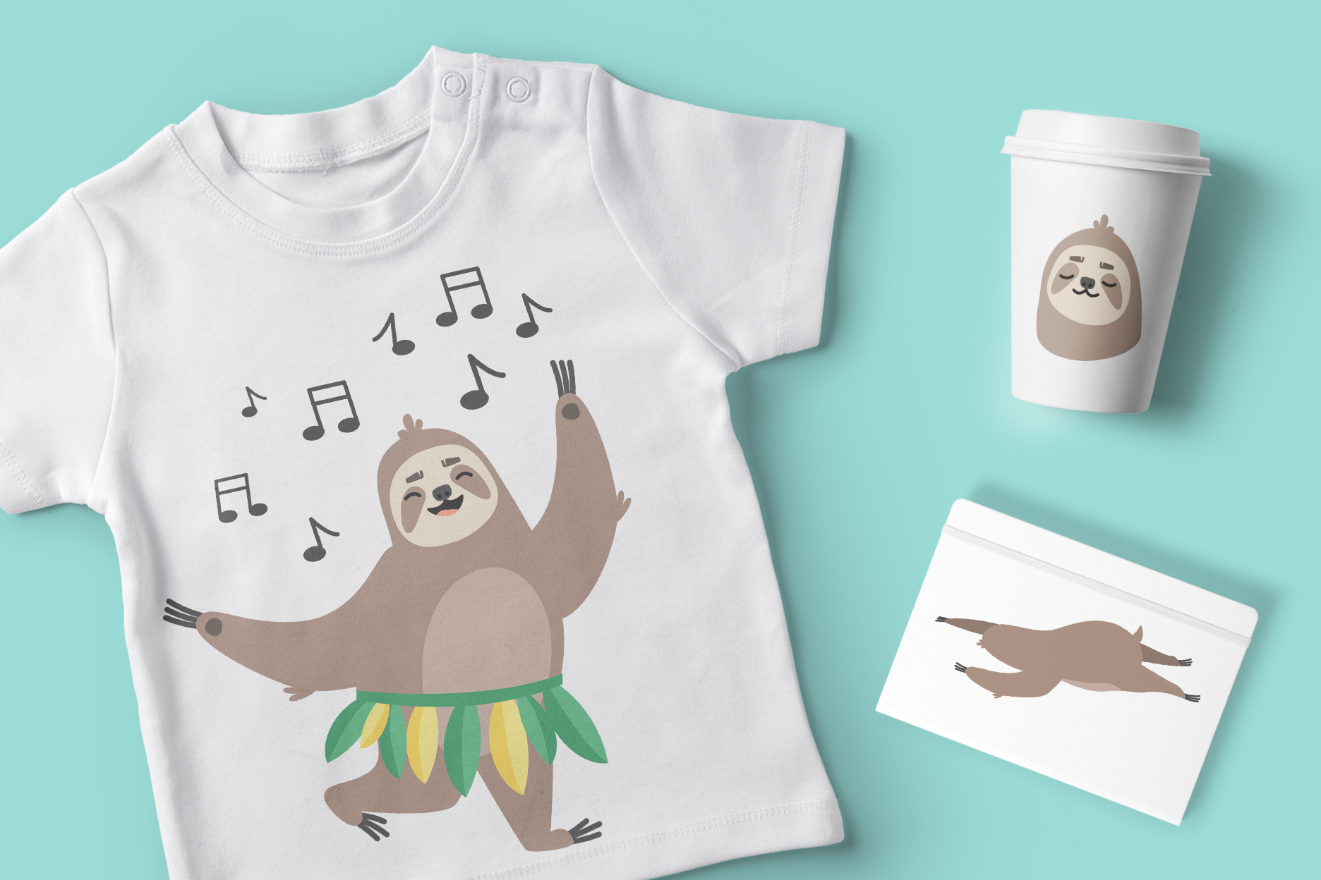 Funny Sloth Bundle example image 3