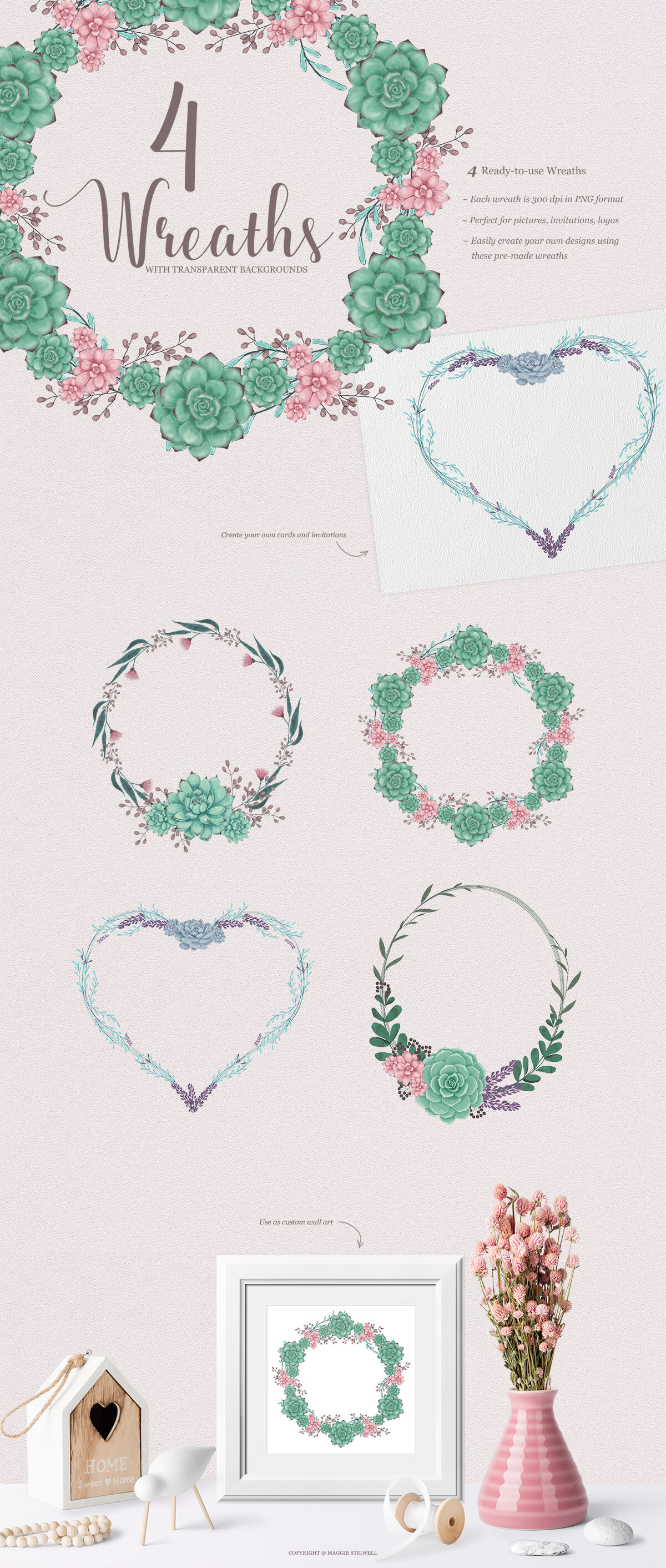 Sweet Succulents Design Set example image 4