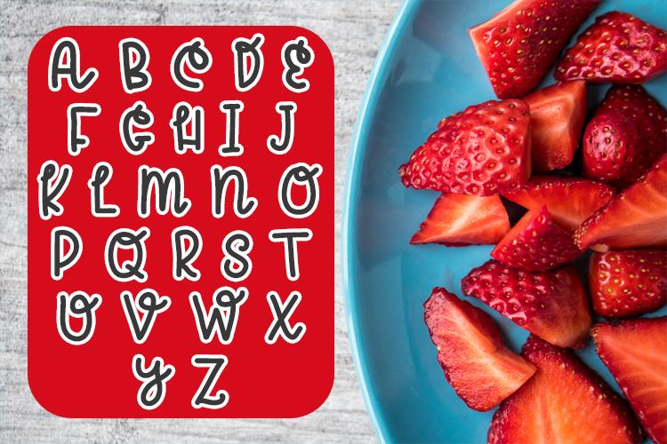 Strawberry Jam Font example image 2