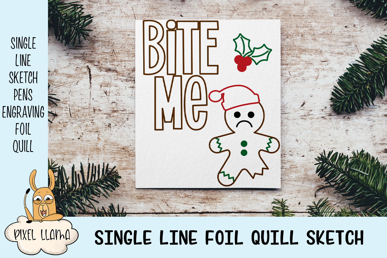 Gingerbread Bundle Single Line Sketch Designs example image 2