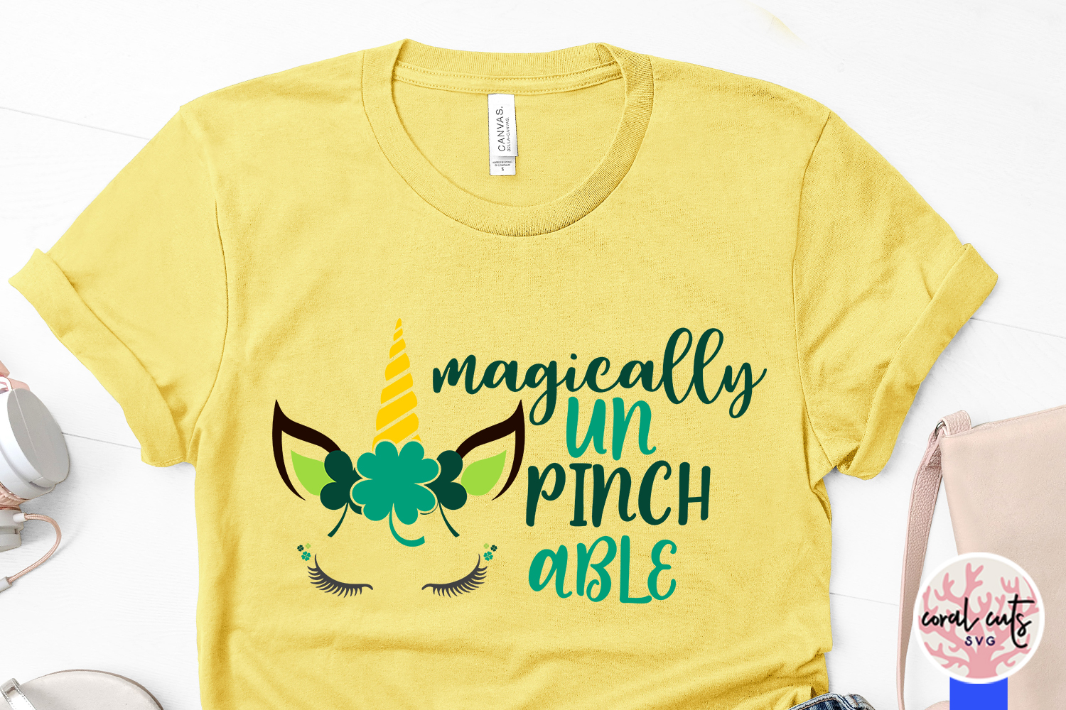 Magically UnPinchable Svg - St. Patrick's Day SVG EPS DXF example image 3