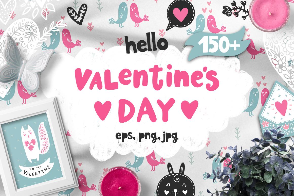 Hello Valentine's Day - Clipart Set! example image 1