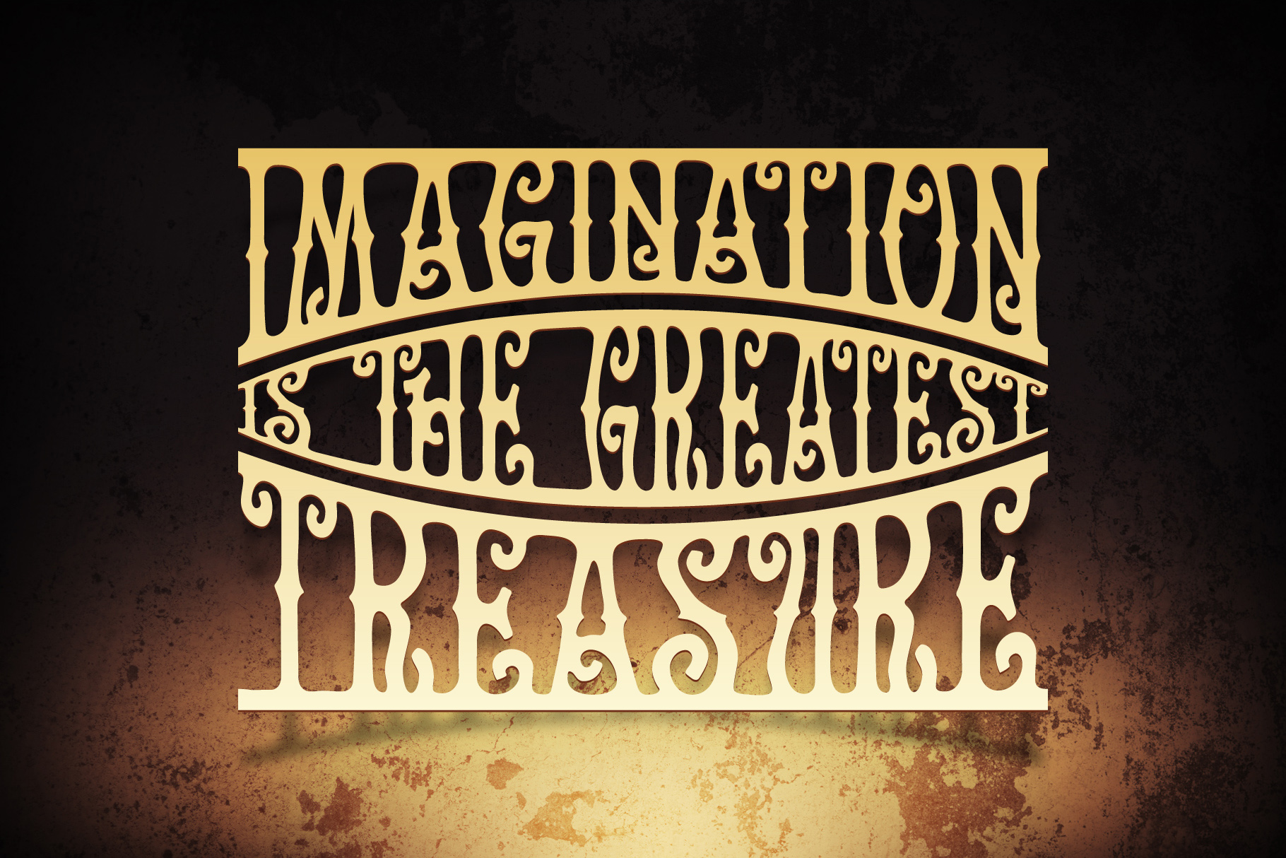 Golden Treasure font & template example image 2
